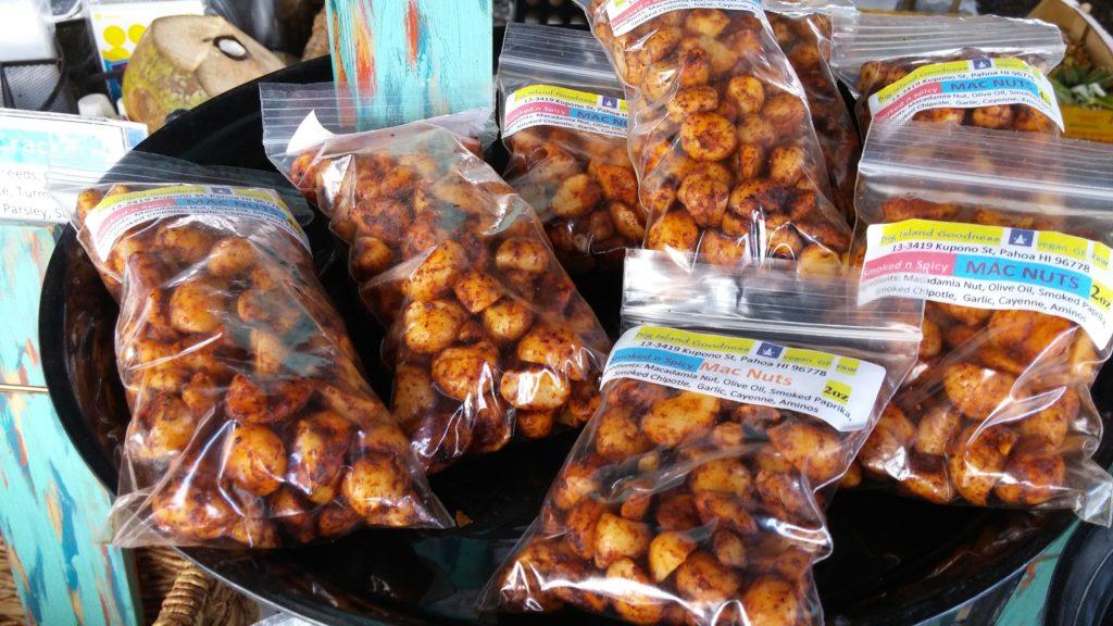 Big Island Goodness flavored mac nuts. PC: Marla Walters.