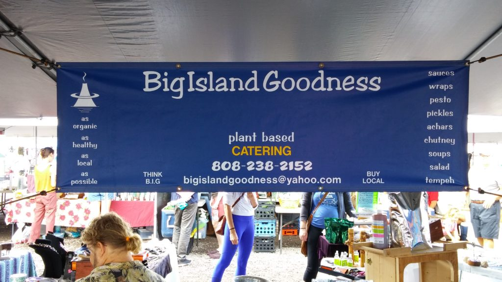 Look for the blue banner at Big Island Goodness. PC: Marla Walters.