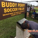 Coach Buddy Monument Installed at Shipman Park Soccer Fields