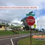 DPW Announces Weekend Road Work