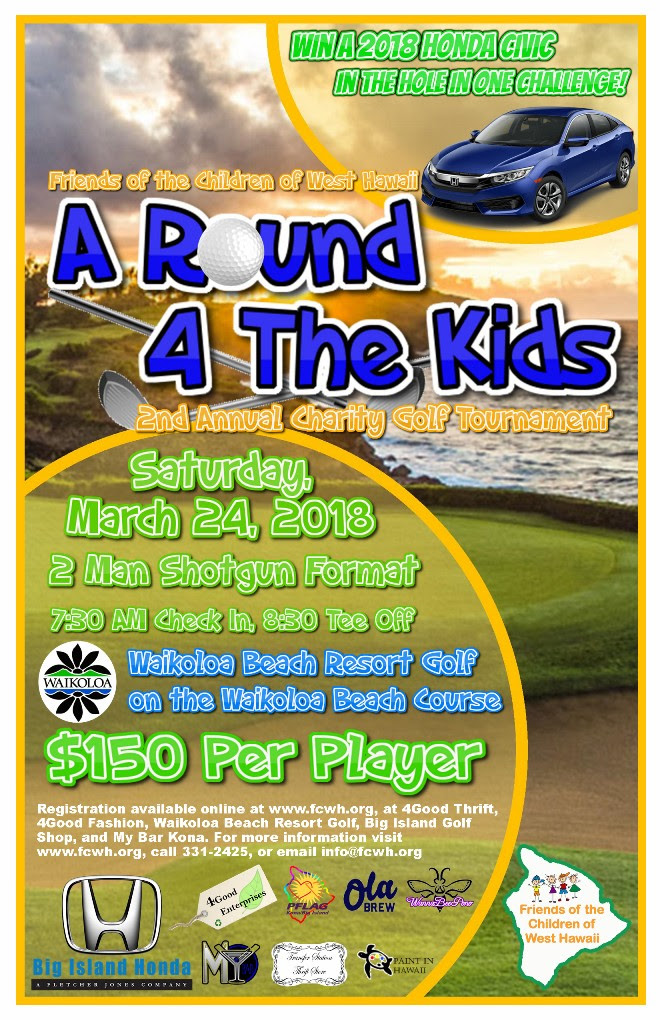 a round for the kids golf tournament