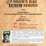 Kui'kahi Mediation Center Brown Bag Lunch Series Continues