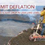 Summit Deflation Leads to Slight Drop in Lava Lake Level