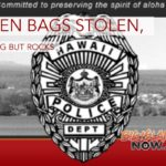 Green Bags Stolen, Nothing But Rocks