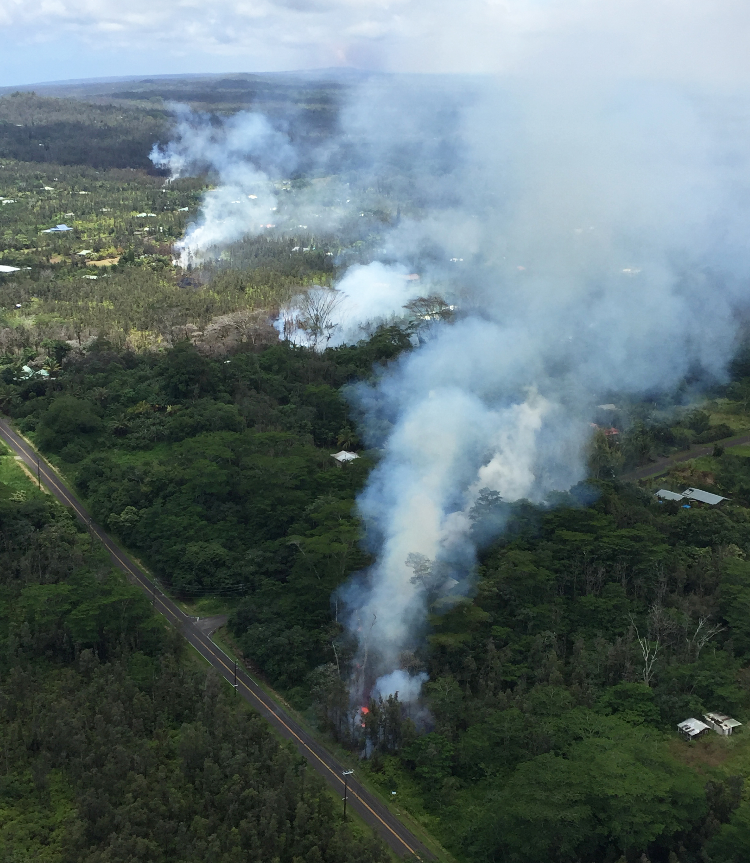 An Intrusion Of Magma Into Kilauea Volcanos Lower East Rift Zone Resulted In Eruption Leilani Estates The Puna District On Island
