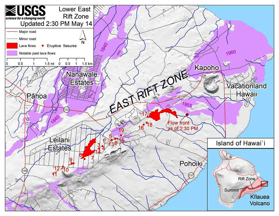 update another new map of east rift zone released video of morning overflight