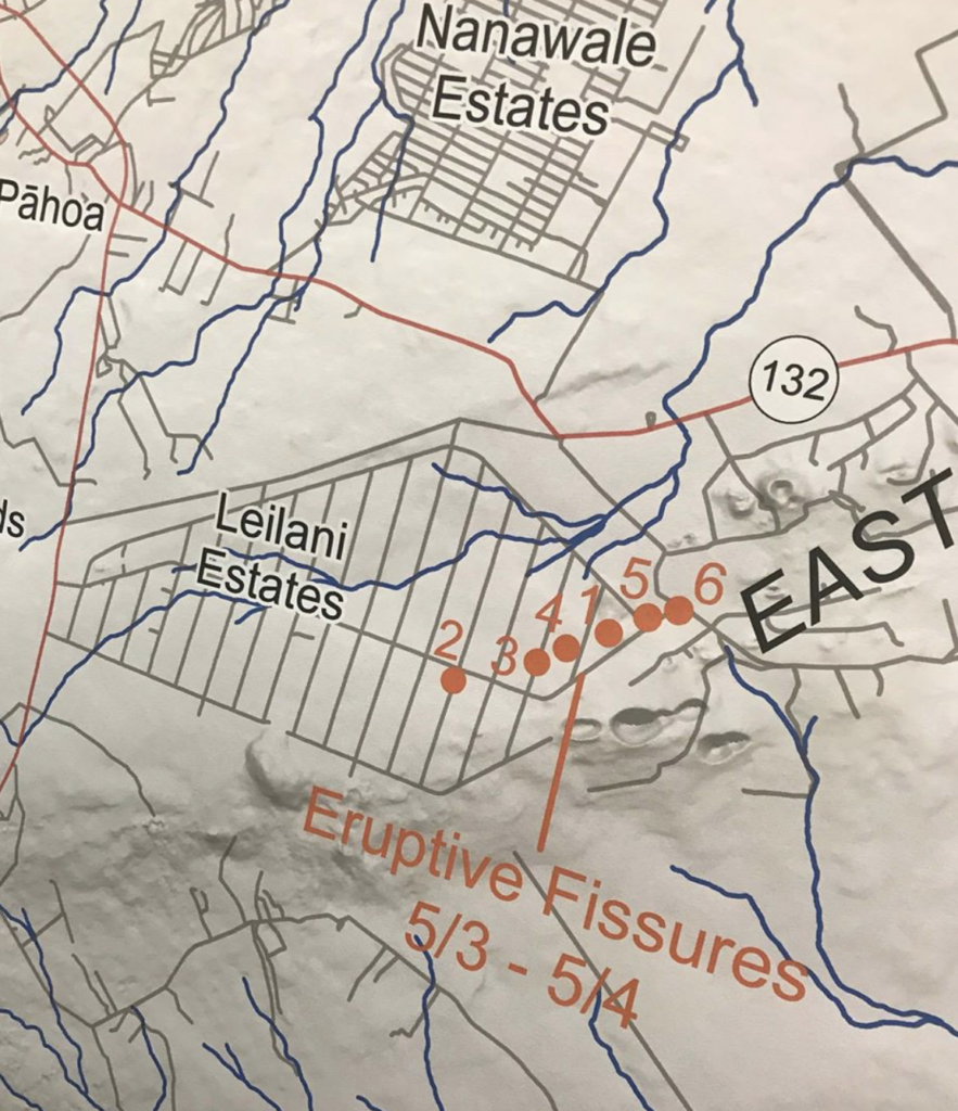 Site Map 2018: USGS Map Shows Location Of Fissures