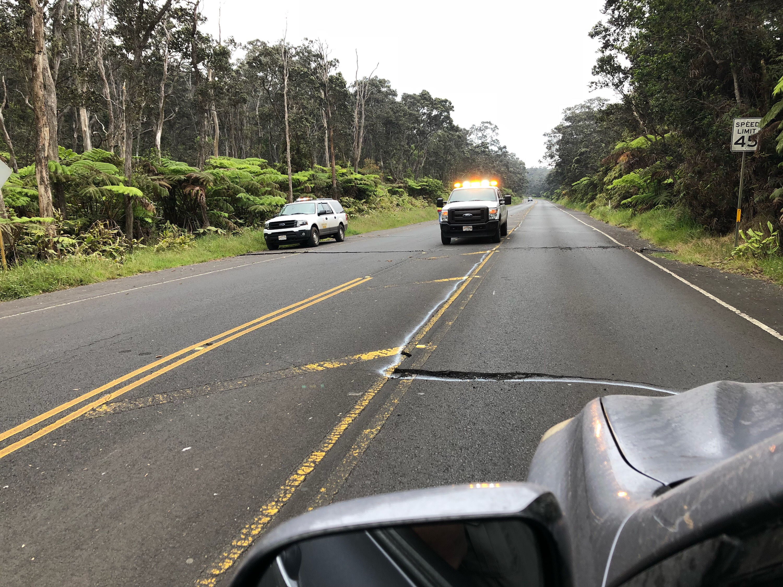 Hawaii volcano kicks ballistic rocks onto 'moonscape'
