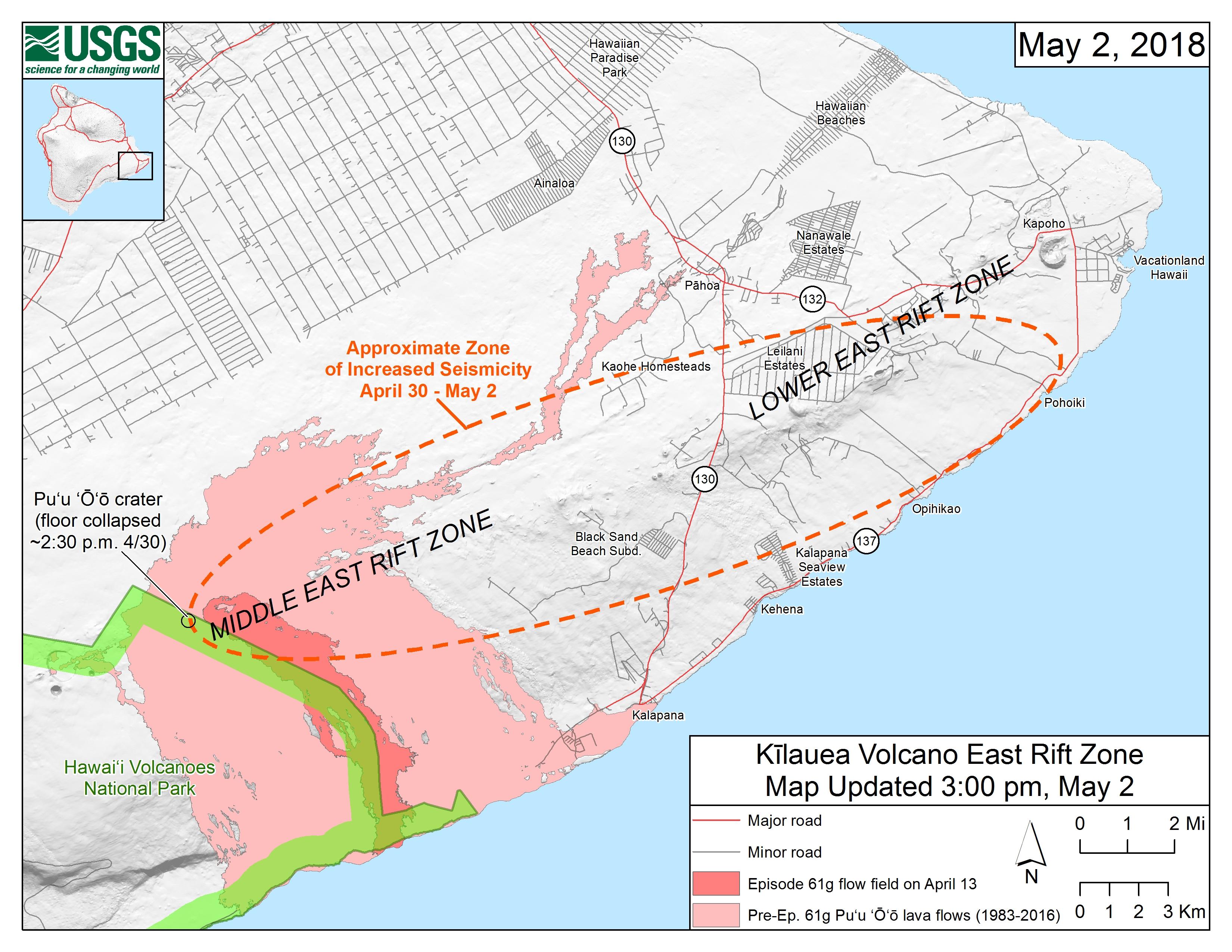 Hawai\'i Volcano: New Map of East Rift Zone | Big Island Now