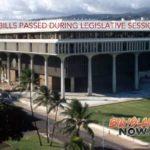 Major Bills Passed During Legislative Session
