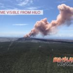 Ash Plume Visible From Hilo