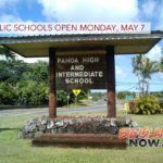 All Public Schools Open Monday, May 7