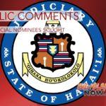 Public Comments on Judicial Nominees Sought