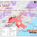 New Map Shows Where Lava Flow Crossed Pohoiki Road