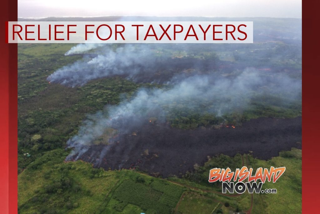 Weekly Calendar July 2018 : Relief for taxpayers affected by lava flow big island now