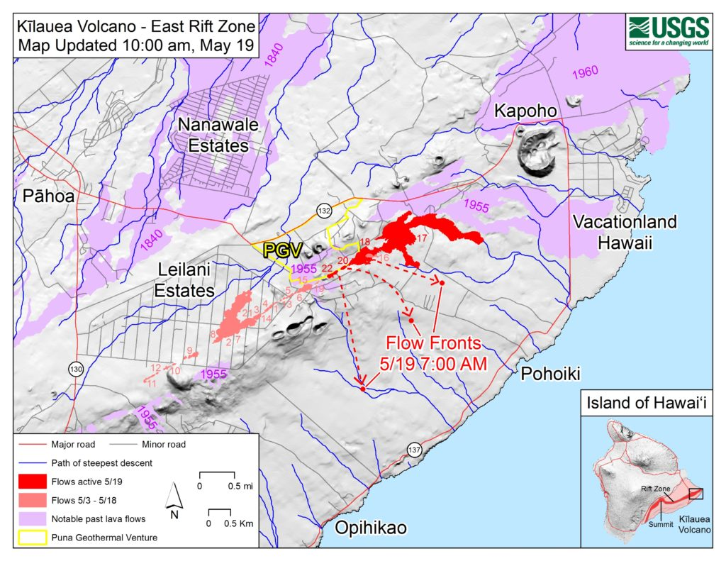 Lava May Cross Highway 137 in Next 4 to 7 Hours Big Island Now