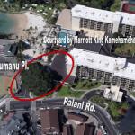 Tree Trimming Work Fronting Kamehameha's Kona Beach Hotel