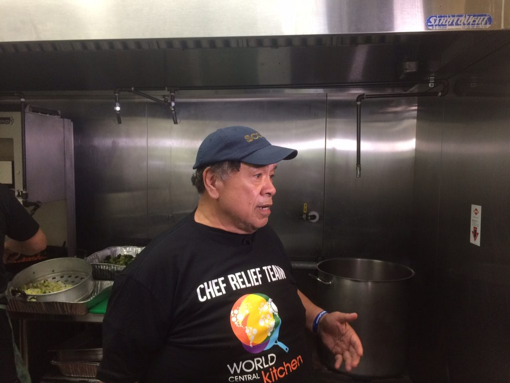 Sam Choy Cooks for Residents Affected by Lava Flows & Eruptions