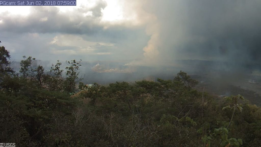Webcam June 2 1024x576 - Kilauea Volcano: New Phase; Lava Flow Hits Green Lake
