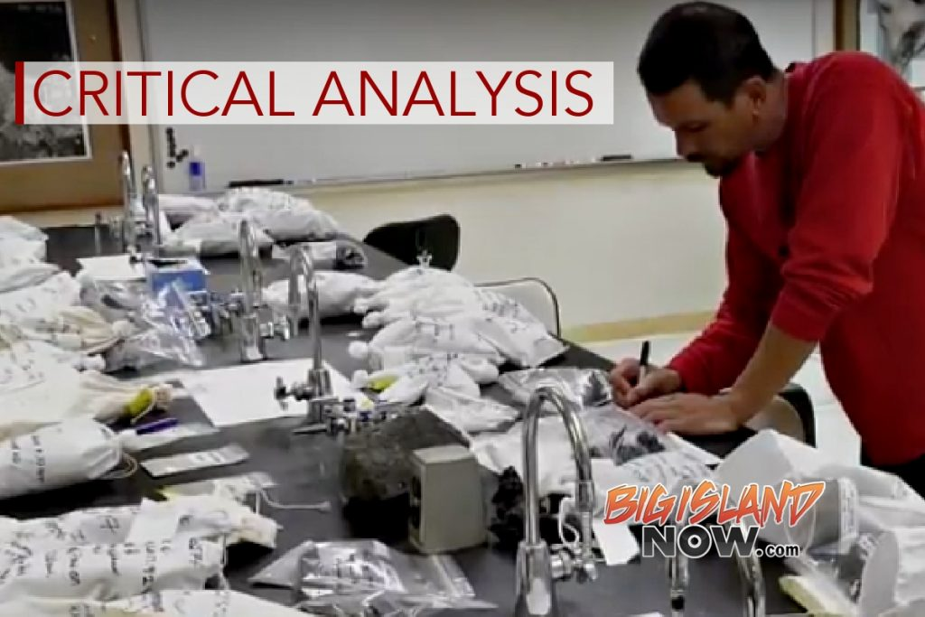 UH Hilo Team Provides Critical Chemical Analysis of Lava Flow