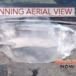 Aerial View of Halema'uma'u & New Map of Lava Flow