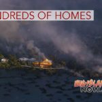 Overflight Video: Lava Torches Hundreds of Homes