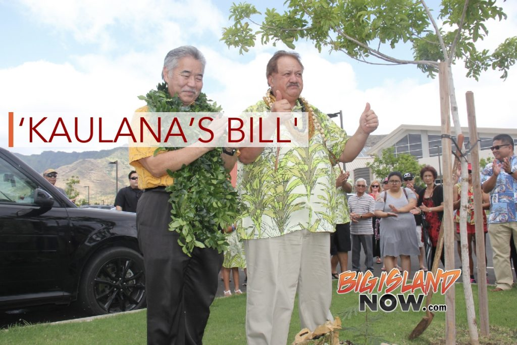 Gov. Ige Signs 'Kaulana's Bill'