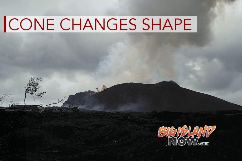 Fissure 8 Tephra Cone Changes Shape Through Time
