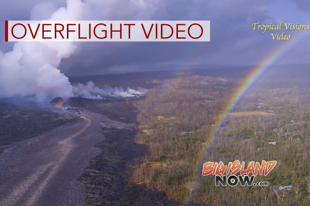 Overflight Video: Large Outbreak Near Fissure 8