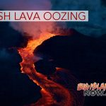 Fresh Lava Oozing at Kapoho Beach Lots