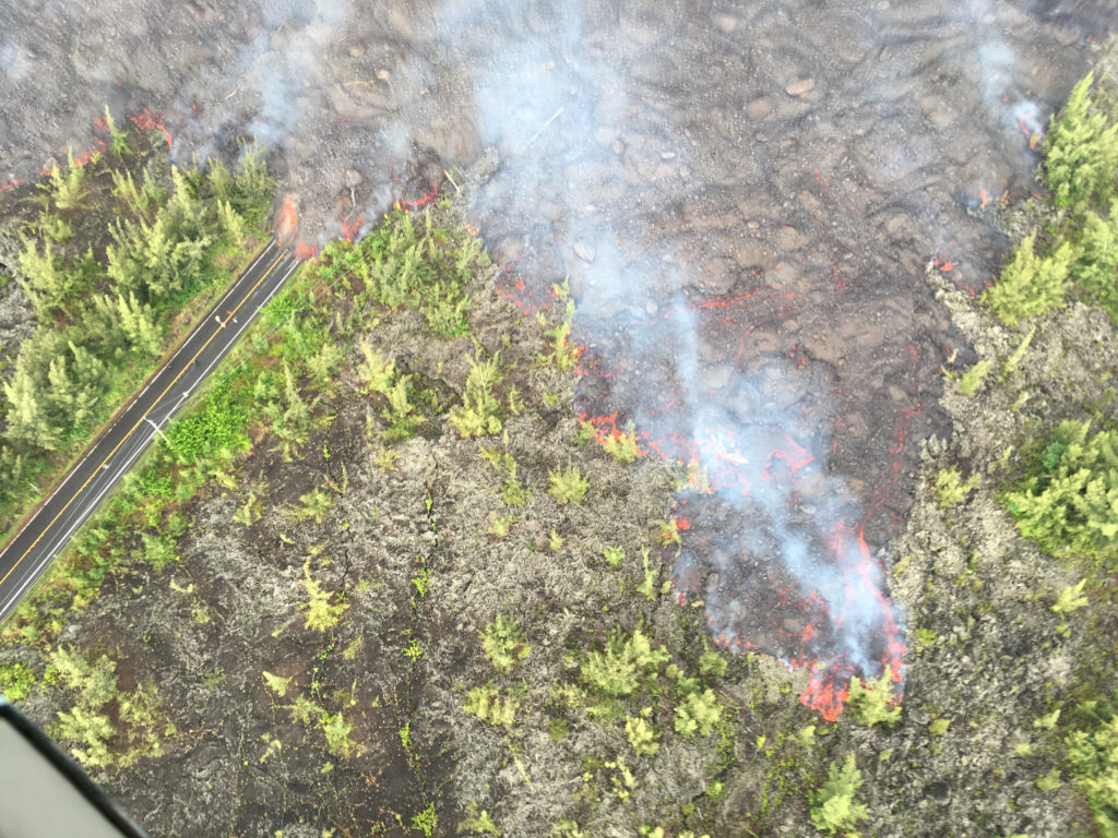 usgs june 2a 1024x768 - Kilauea Volcano: New Phase; Lava Flow Hits Green Lake