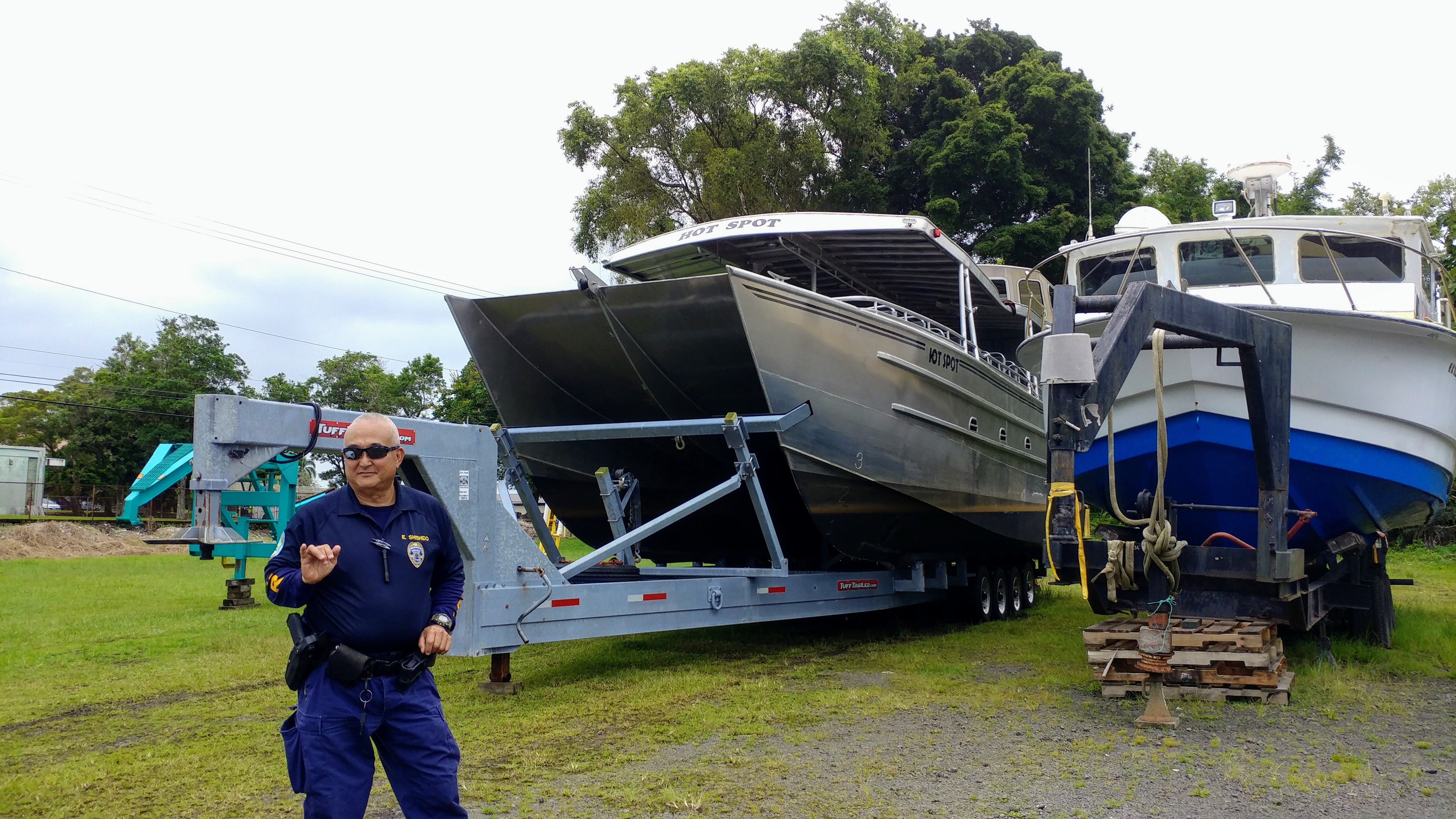 Lava bomb rips through tour boat roof