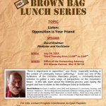 Brown Bag Lunch Series Talk on Listening