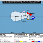 8 AM: Hurricane Lane Lurking S of Hawai'i