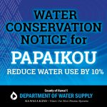 UPDATE: Water Conservation Notice Cancelled