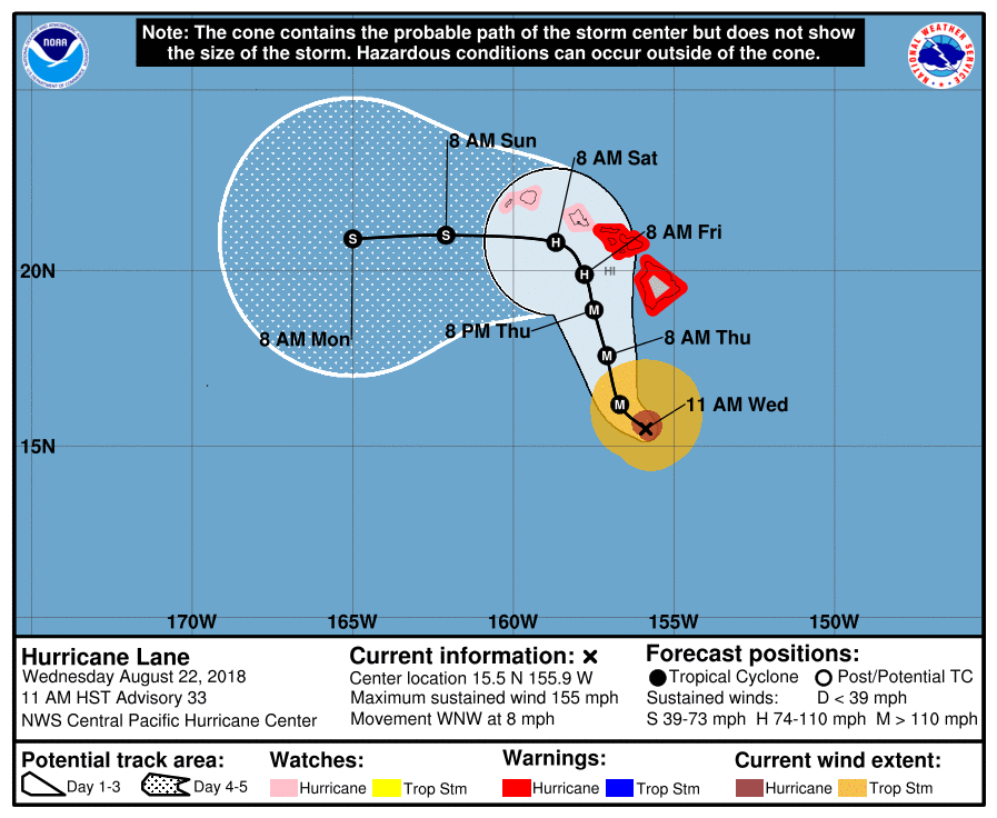 Hawaii braces for Hurricane Lane impact