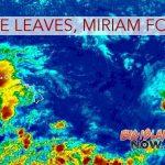 Resilient Lane Leaves Hawai'i; TS Miriam to Head North