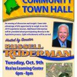 Sen. Ruderman Invites Public to Town Hall Meeting