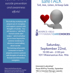Suicide Prevention Workshop to be Held