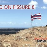 Inverted Hawaiian Flag Placed Atop Fissure 8
