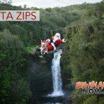 Santa Caught Ziplining in Hawai'i