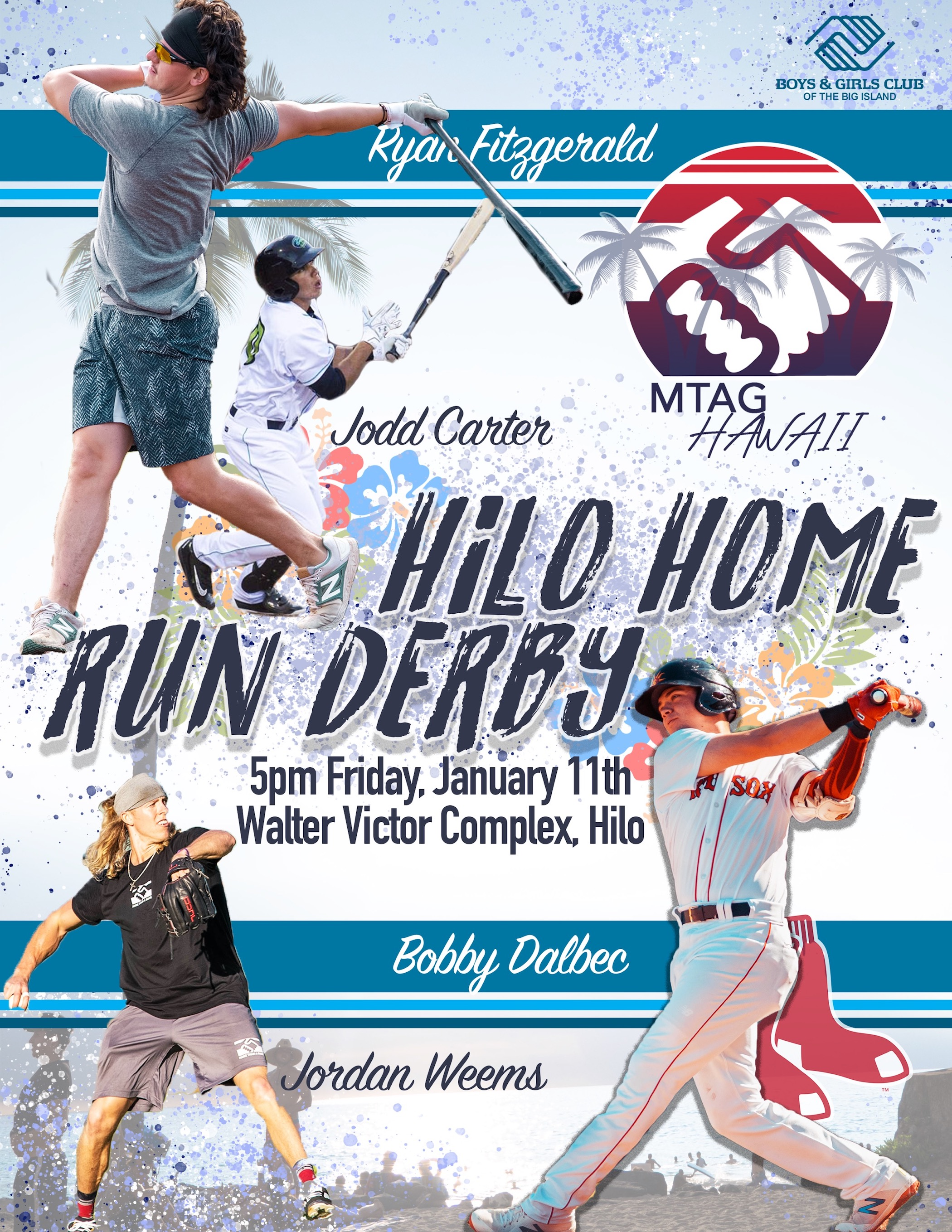 The More Than A Game coaching clinic and home run derby will wrap up a week of clinics and improvements to the Big Island Boys & Girls Club baseball fields on Friday, Jan. 11, 2019, at the Walter Victor Complex in Hilo.