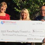 ARDA Hawai'i Donates $2,500 to Kona Hospital Foundation