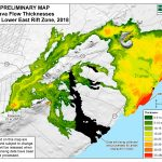 New Map Shows Lava Flow Thickness in Lower East Rift Zone
