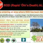 Discovery of Rapid 'Ōhi'a Death Prompts DLNR Actions