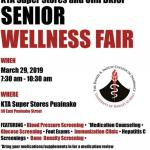 KTA Hosting Senior Wellness Fair March 29