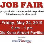 Job Fair Scheduled at Old Kona Airport, May 24