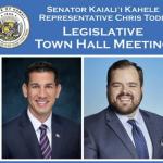 Sen. Kahele & Rep. Todd Hosting Town Hall Meeting