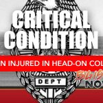 Passenger in Critical Condition After Head-On Collision