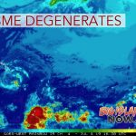 Cosme Degenerates Into Post-Tropical Remnant Low